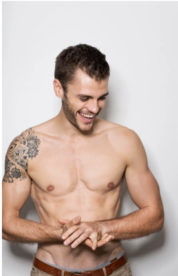 Male breast tissue